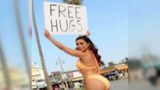 EEUU: hombres cayeron en broma del regalo de abrazos