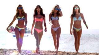 YouTube: ángeles de Victoria's Secret se enfrentan en sexy partido de vóley playa