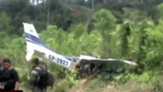 Satipo: derriban avioneta boliviana con casi 300 kilos de droga