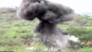 Piura: destruyen seis campamentos en operativo contra minería informal