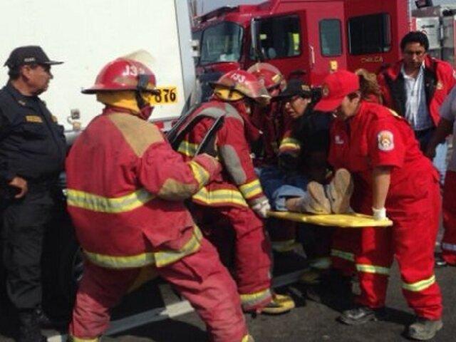 Hombre resultó herido tras ser atropellado por un taxi en el Centro de Lima