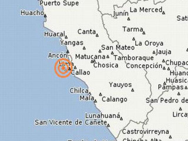 Temblor de 4.4 grados se registró en el Callao