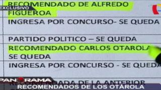 Recomendados de los Otárola: contrataciones en Cofopri Áncash