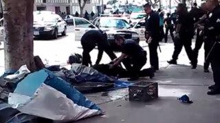 YouTube: policías disparan a indigente y le provocan la muerte en Los Ángeles