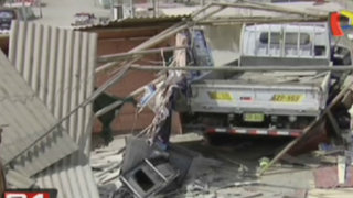 Niña se encuentra grave luego que fuera arrollada por un camión en Ancón