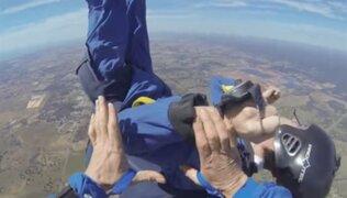 VIDEO: paracaidista sufre ataque de epilepsia en plena caída libre