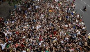 Miles de jóvenes participaron en el 'Día sin pantalones' en Colombia