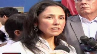 Nadine Heredia justifica ataques de mandatario a fiscal y culpa a los medios