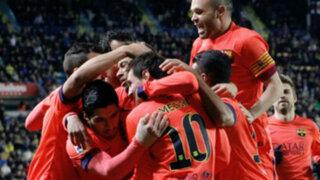 Barcelona venció 3-1 al Villarreal y es finalista de la Copa del Rey
