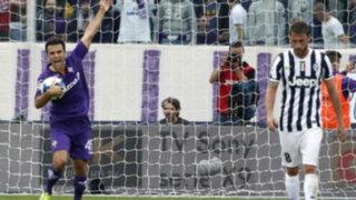Fiorentina venció 2-1 a Juventus en la primera semifinal de la Copa Italia