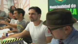 Aldo Miyashiro y Beto Ortiz firmaron autógrafos en el estreno de Atacada