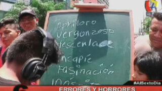 Errores y horrores ortográficos: La prueba del dictado al estilo de Al Sexto Día