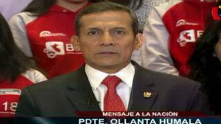 """Ollanta Humala: """"Hay que poner énfasis sin precedentes en la educación"""""""