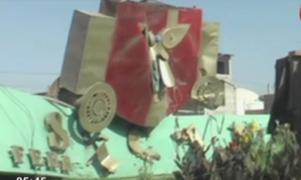 Chiclayo: camión derriba arco de la 'Máscara Sicán' de Ferreñafe