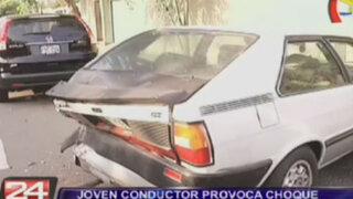 Sujeto en aparente estado de ebriedad provocó dos choques en Miraflores