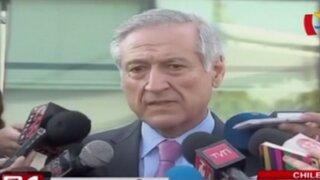 Canciller chileno ratifica que su país no avala prácticas de espionaje