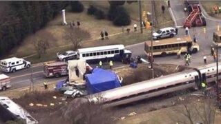 EEUU: choque de tren y camión deja más de 50 heridos en Carolina del Norte