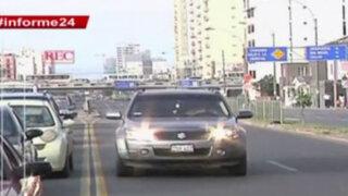Informe 24: autos y motocicletas invaden vías del Metropolitano