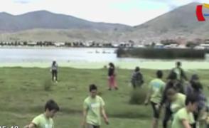 Puno: turistas ambientalistas recogieron toneladas de basura en el lago Titicaca