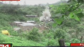 Destruyen maquinaria utilizada para la minería ilegal en Piura