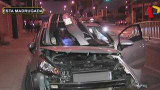 Chorrillos: militar en completo estado de ebriedad provocó aparatoso choque