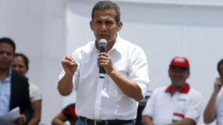 Humala vuelve a atacar a la oposición y critica a exministro aprista Luis Carranza