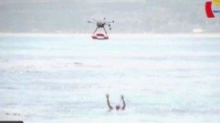 Playa de Chile utiliza drones para ayudar a los socorristas
