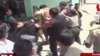 Tacna: familiares de empresario asesinado golpean a sicario