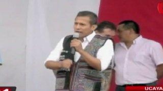 Ollanta Humala volvió a defender el trabajo de la primera dama Nadine Heredia