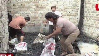 Voraz incendio dejó cinco familias damnificadas en Breña