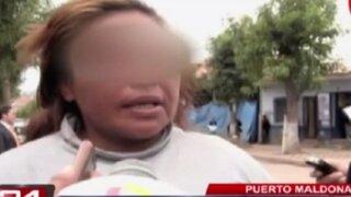 Mujer escapa de mafia de prostitución en Puerto Maldonado