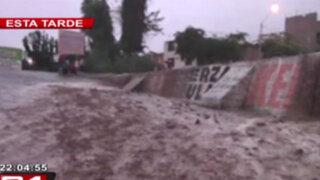 Huayco cae en Kilómetro 28 de Carretera Central en Chosica