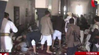 Triple atentado contra mezquitas deja casi 200 muertos en Yemen