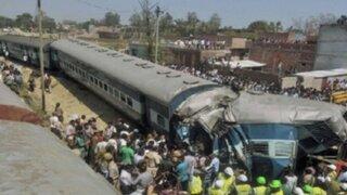 Accidente de tren deja 34 muertos y decenas de heridos en la India