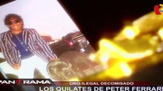 Oro ilegal decomisado: los quilates de 'Peter Ferrari'