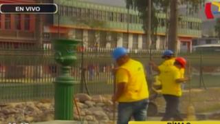 Rímac: reanudan obras de remodelación en la 'Alameda de los Descalzos'
