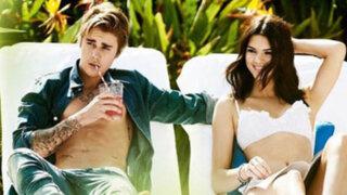 Justin Bieber  y Kendall Jenner posan juntos para la revista Vogue