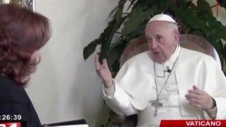 Vaticano: Papa Francisco fue entrevistado por importante cadena televisiva
