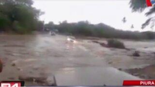 Ríos están a punto de colapsar tras 12 horas de lluvias registradas en Piura