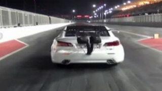 Bahréin: auto 'se levanta' en insólito accidente durante carrera