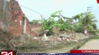 Fuertes vientos afectan estructura de estadio municipal de Yurimaguas