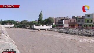 Crece caudal del río Rímac y pone en riesgo a pobladores de la ribera