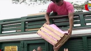 Camioneros se ven obligados a rematar su mercadería