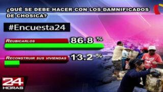 Encuesta 24: 86.8% cree que se debe reubicar a damnificados de Chosica
