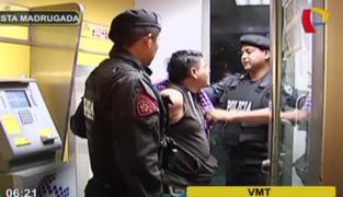 VMT: Policía captura a sujeto que intentó robar dinero en cajero automático