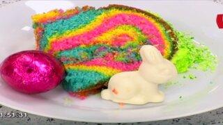 ¿Quieres engreír a los niños? Prepara un keke de colores con esta receta