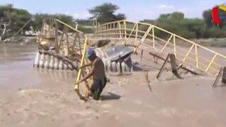 Lambayeque: seis pueblos quedan incomunicados por colapso de puente