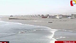 Oleajes anómalos continuaron en playas de Trujillo