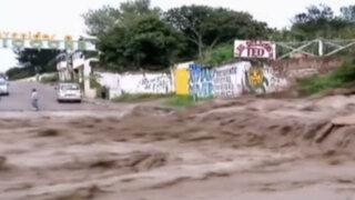 Ayacucho: desborde de río bloquea importante vía en Huanta