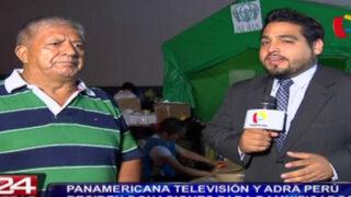 Panamericana Televisión y ADRA Perú reciben donaciones para damnificados